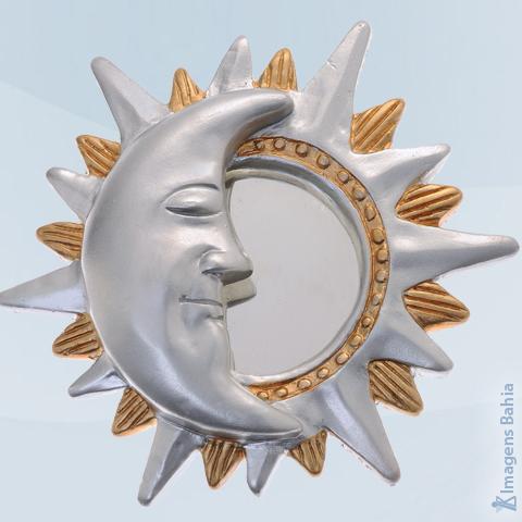 Sol e Lua crescente, 16cm