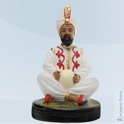 Imagem de Deus Hindu com bola e roupa branca