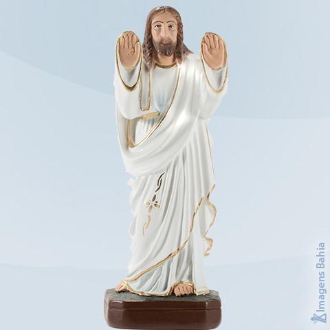 Imagem de Cristo Abençoando (Manto Branco Braço Para Frente)