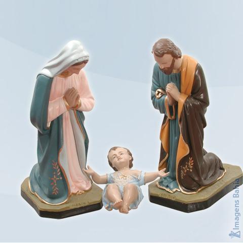 Conjunto Maria, José e Menino Jesus, 100cm