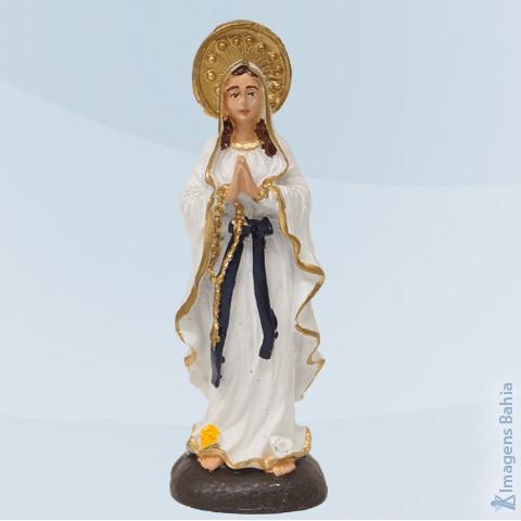 Imagem de Nossa Senhora de Lourdes em resina