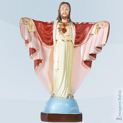 Imagem de Cristo Redentor com manto vermelho