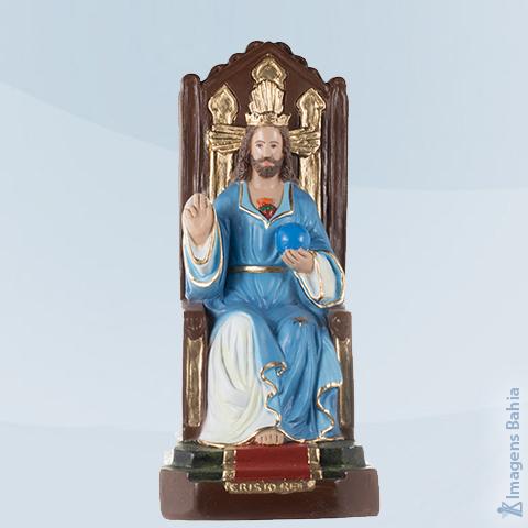 Imagem de Cristo Rei com manto azul