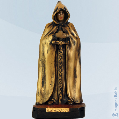 Exu Guardião Dourado, 40cm