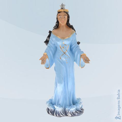 Imagem de Iemanjá em resina Roupa Azul