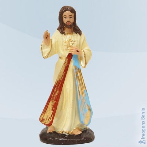 Imagem de Cristo Misericordioso em resina