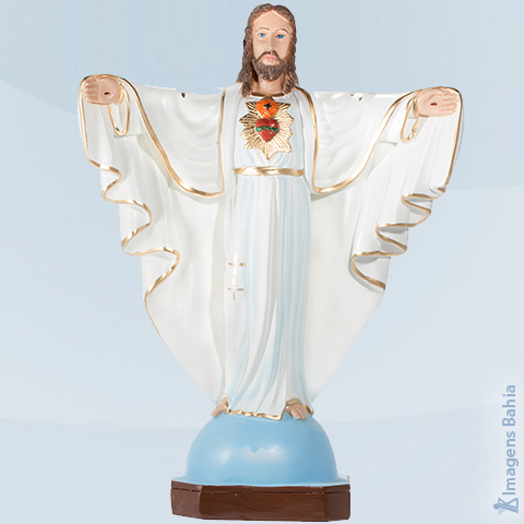 Cristo Redentor (Manto Branco), 40cm