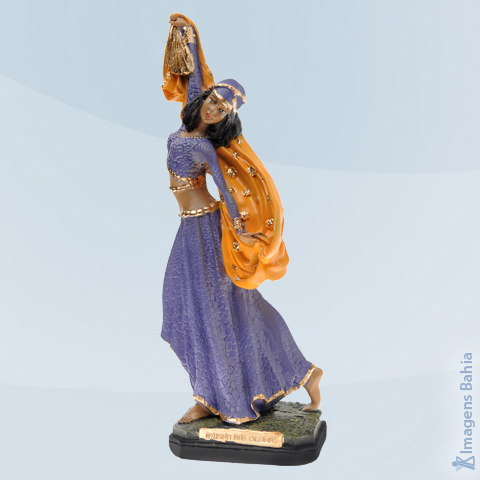Imagem de Rainha das Ciganas roupa azul e amarela