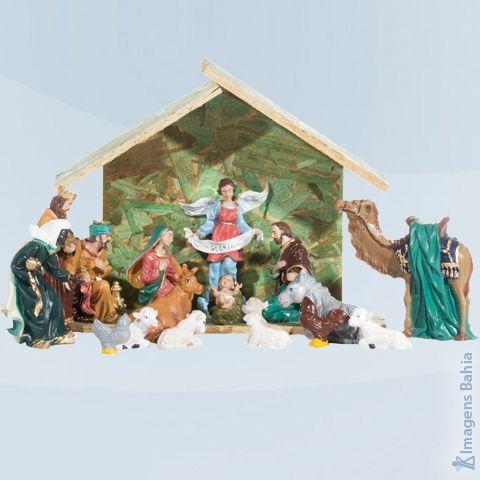 Imagem de Presépío com 17 peças em resina