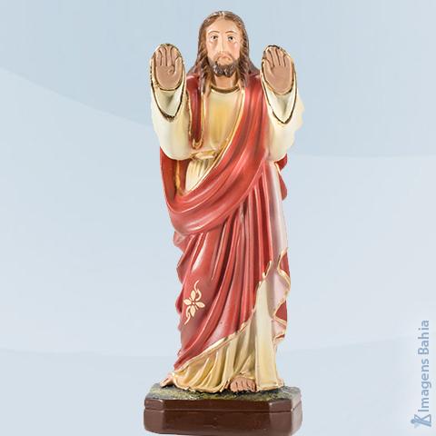 Cristo Abençoando (Manto Vermelho Braço Para Frente), 30cm