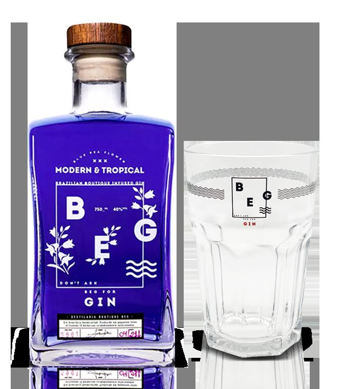 Gin Beg Modern & Tropical - 750 ml - com 1 Copo