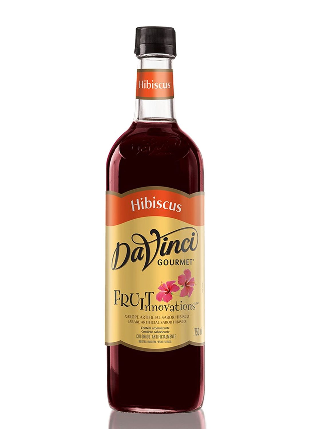 XAROPE PARA DRINKS DA VINCI - HIBISCUS - 750 ML