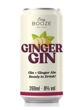 Lata Ginger Gin Easy Booze 269 ml