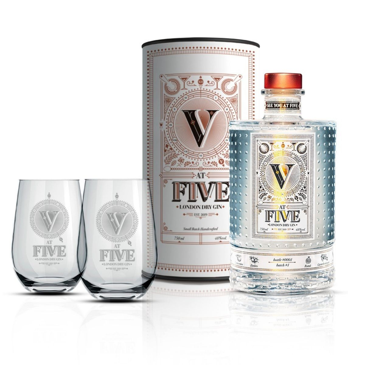 Gin At Five - London Dry - 750 ml