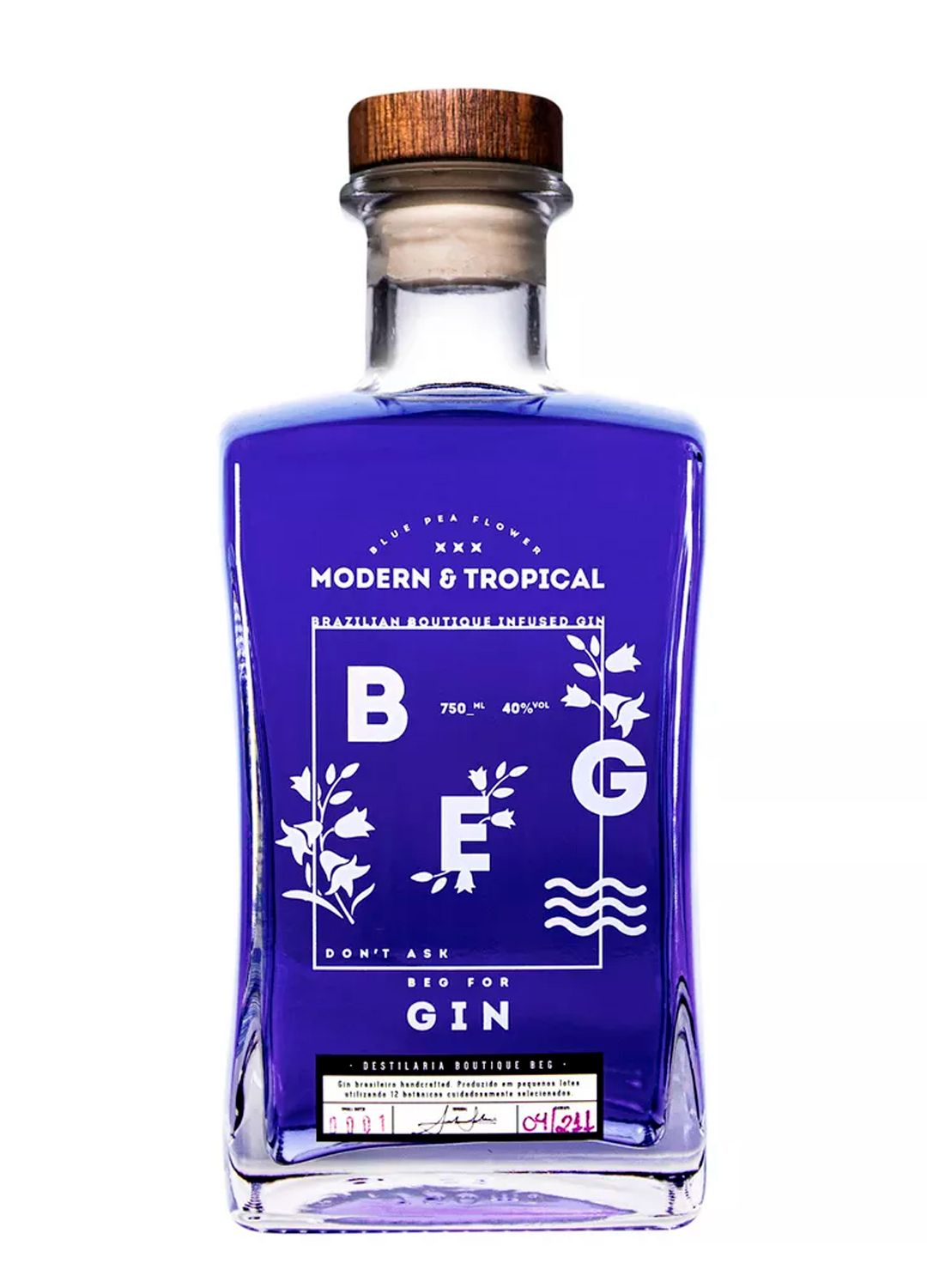 Gin Beg Modern & Tropical - Blue Pea Flower - 750 ml