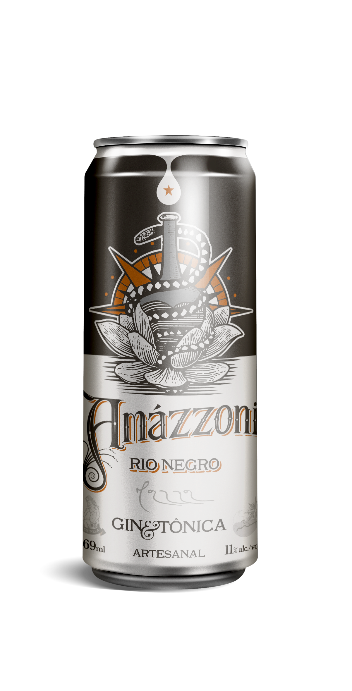 Gin Tônica Rio Negro - Lata - 269 ml