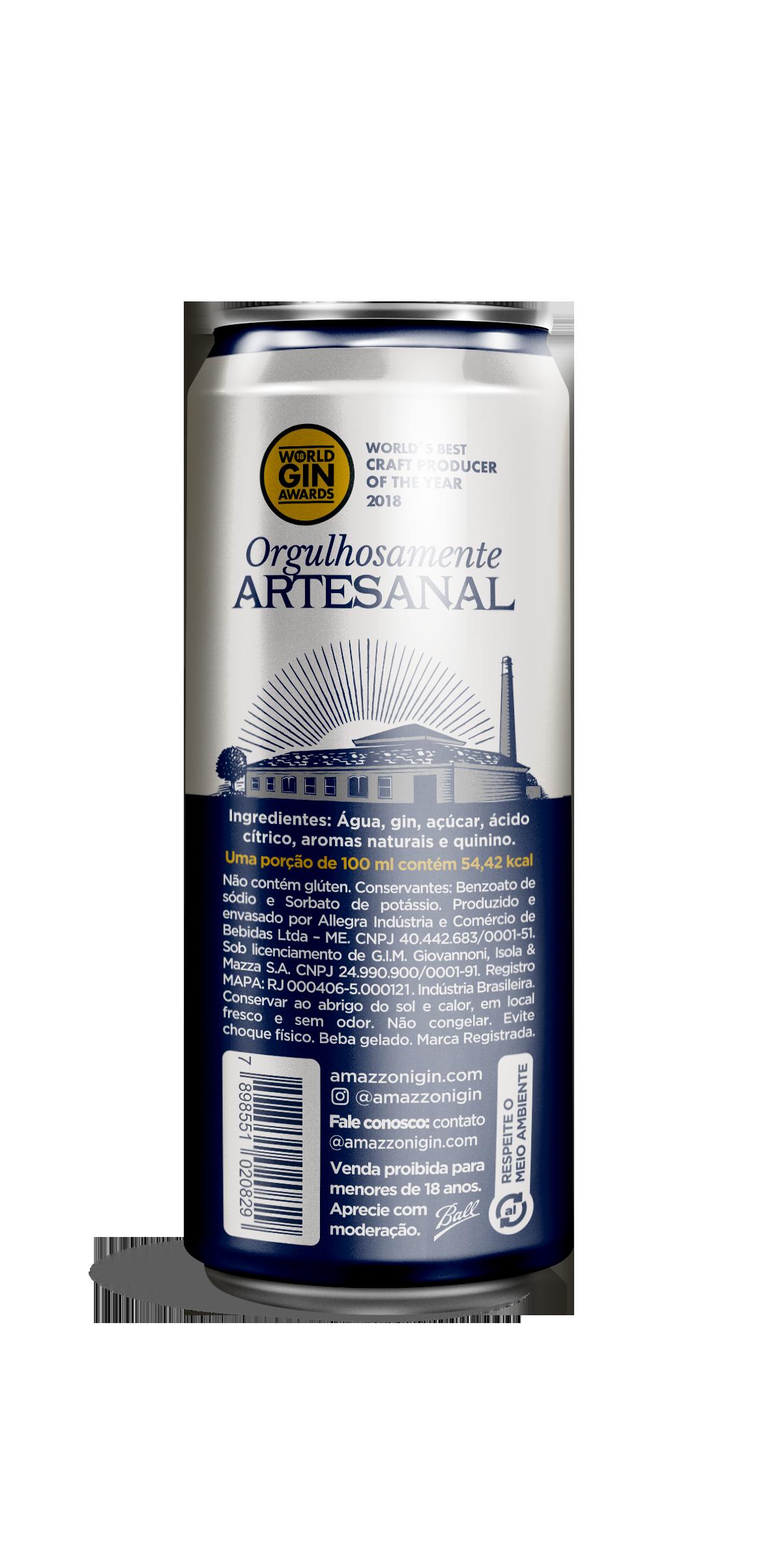 Gin Tônica Amazzoni - Lata - 269 ml