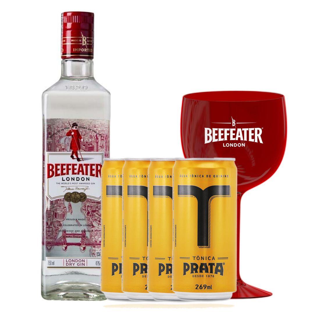 Pack Promocional Beefeater + Tônica Prata + Taça