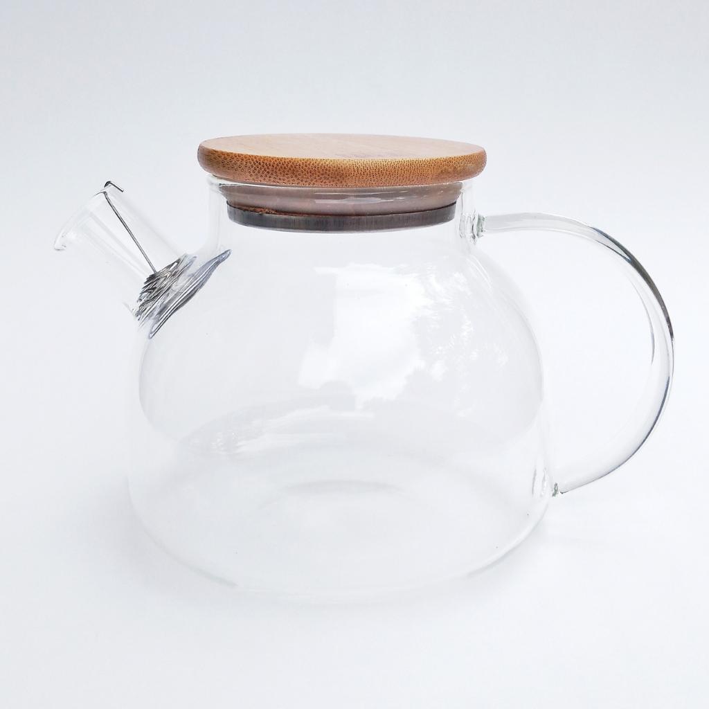 Bule de Vidro com Filtro em Aço Inox 1000ml