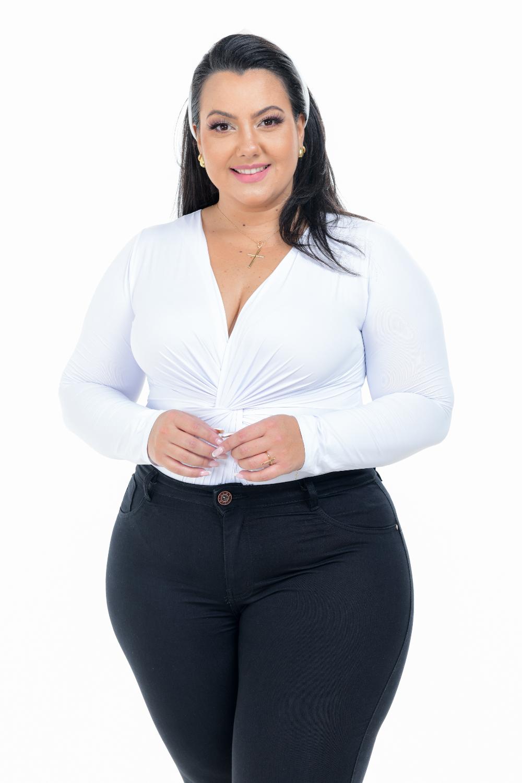 Calça Feminina Jeans Skinny Preta Plus Size Cintura Média Xtracharmy