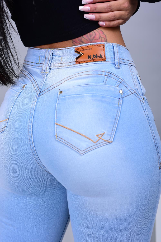 Calça Feminina Jeans Skinny Delavé