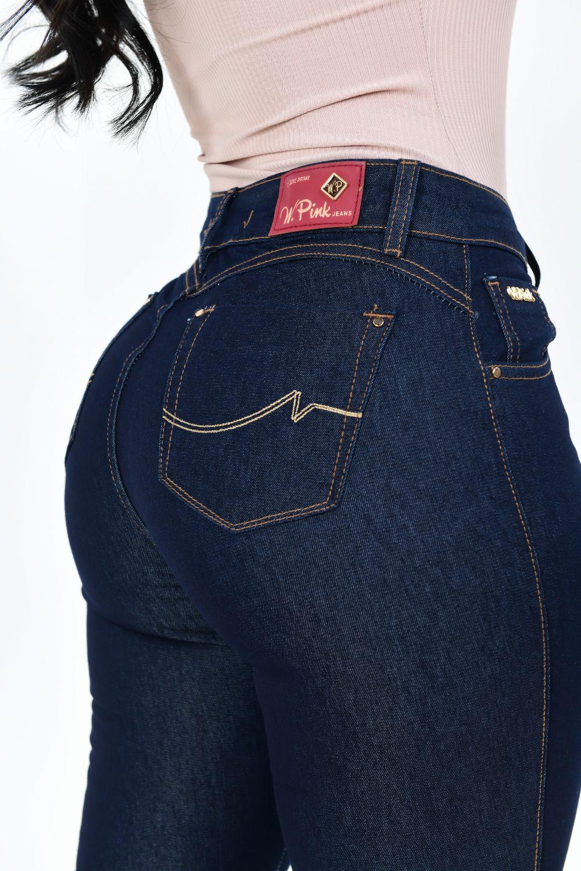 Calça Feminina Jeans Skinny Flare Carbono