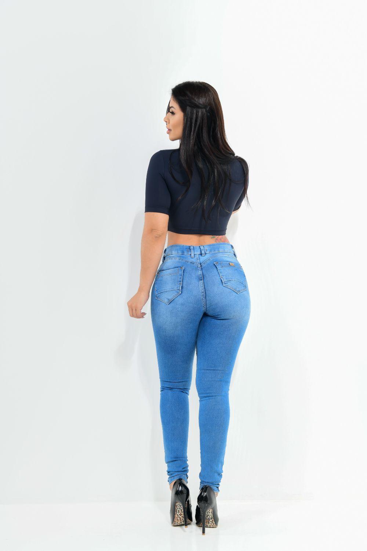 Calça Feminina Jeans Skinny Delavê